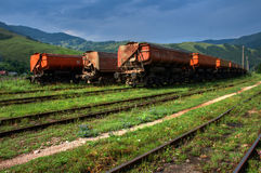 Freight train HDR Stock Photo