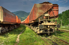 Freight train HDR Royalty Free Stock Photo