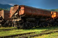 Freight train HDR Royalty Free Stock Image