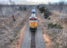 Freight train heading south in Oklahoma Stock Photography