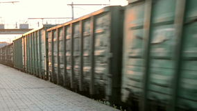 Freight train at high speed stock video footage