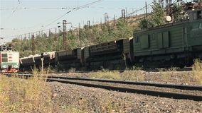 Freight train, Industrial exterior stock footage