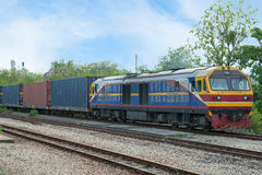 Freight train into industry zone for Logistic Import Export bac royalty free stock photo