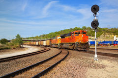 Freight train locomotive in Arizona, USA Royalty Free Stock Image