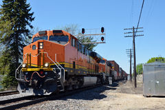 Freight train locomotive Royalty Free Stock Images