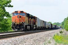 Freight train locomotive with freight royalty free stock images