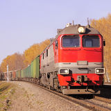 Freight train. Stock Photo