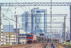 Freight train. Royalty Free Stock Image