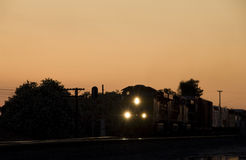 Freight Train at Night Stock Images