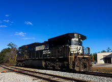 Freight Train. A freight train passes through Summerville, SC on its way to Charleston, SC Royalty Free Stock Images