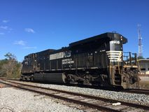 Freight Train. A freight train passes through Summerville, SC on its way to Charleston, SC Royalty Free Stock Image