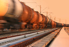 Freight Train Passing By Stock Photography