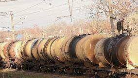 Freight train, Industrial exterior stock video footage