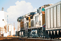 Freight Train Returning Empty Coal Cars Royalty Free Stock Photo