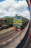 Freight train in Russia Stock Photography