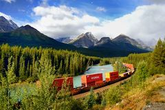 Canadian Pacific Railway, Freight Train Stock Images