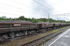 Freight train. Royalty Free Stock Photography