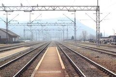 Freight train station royalty free stock photos