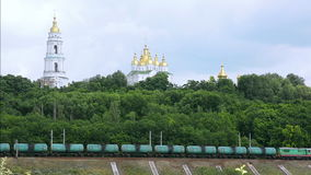 Freight train tank. stock footage