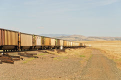 Freight Train and Ties Stock Photos