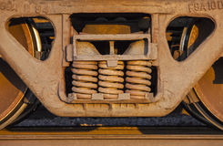 Freight Train and Track Royalty Free Stock Images