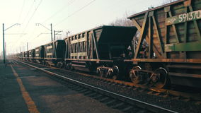Freight Train Traveling on the Railroad stock video footage