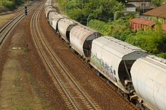 Freight Train Wagons Stock Image