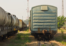 Freight train wagons Stock Photos