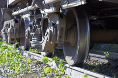 Freight train wheel Royalty Free Stock Images