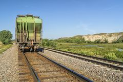 Free Freight Train With Covered Hopper Cars Stock Photo - 159104870