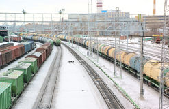 Freight trains Royalty Free Stock Photo