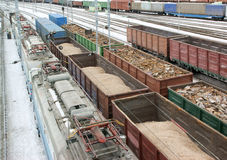 Freight trains Stock Image