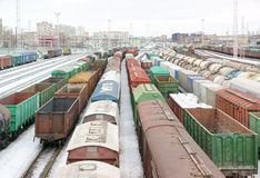 Freight trains Royalty Free Stock Photos