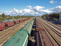 Freight trains Stock Images