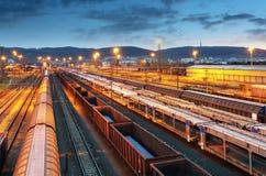 Freight trains - Cargo transportation Royalty Free Stock Photo