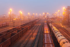 Freight trains - Cargo transportation, Railway Stock Images