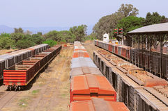Freight trains on Guemes station. Stock Photography