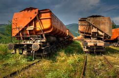 Freight trains HDR Royalty Free Stock Photos