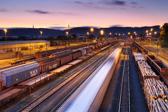 Freight Trains and Railways Royalty Free Stock Photography