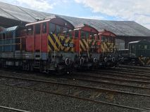 Freight trains at the shed Royalty Free Stock Images