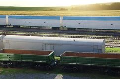 Freight trains Stock Photo