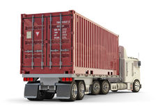 Freight transportation and cargo delivery concept royalty free stock photos
