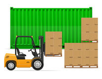 Freight transportation concept vector illustration Royalty Free Stock Image