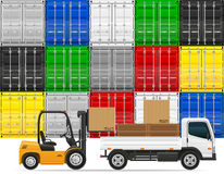 Freight transportation concept vector illustration Stock Photos