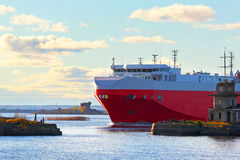 Freight transportation on the sea Royalty Free Stock Photo