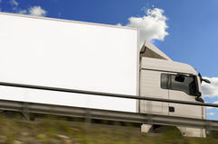 Freight truck in action Royalty Free Stock Photos