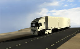 Freight truck delivery Stock Images