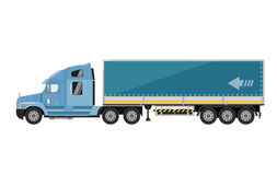 Freight truck isolated on white background Royalty Free Stock Photos