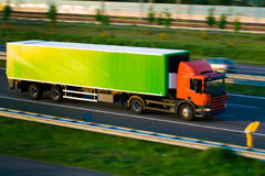 Freight truck on motorway Royalty Free Stock Photography