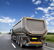 Freight truck on the road Stock Photo